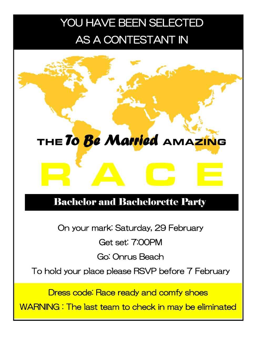 The To Be Married Amazing Race Wild Mos Events